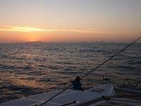 A l'approche de Carthagène au lever du jour