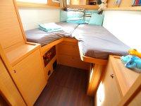 Partie escamotable pour accéder facilement au rangements sous le lit