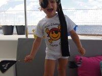 Notre petit pirate prêt à attaquer les autres bateaux pour quelques bonbons !