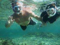 Marc et moi en snorkelling