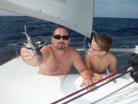 Poisson volant retrouvé sur le bateau le matin