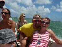 ... Sur le grand lagon de Codrington...