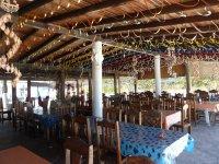Restaurant vénézuélien ouvert sur la plage