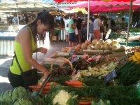 Une partie de notre avitaillement au marché de La Rochelle…