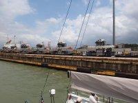 Les locomotives servent à tirer les cargos dans les écluses pour leur éviter d'y mettre les moteurs