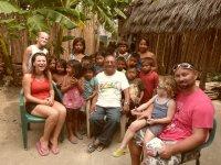 Photo de groupe avec notre ami Bénicio