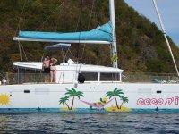 Patrick et Jacqueline sur Coco d'îles