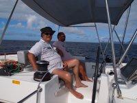 Quand on navigue, chacun à son poste. Les hommes à la veille intensive...