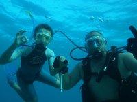 Plongée en binôme, Tom et Marc