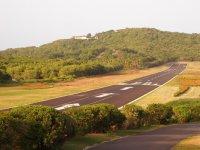 La piste d'atterrissage