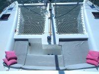 Cockpit avant et trampolines